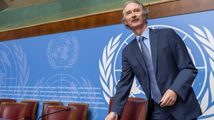 Will keinen Zeitrahmen für eine neue syrische Verfassung: der Uno-Syrienbeauftragte Geir Pederson in Genf.