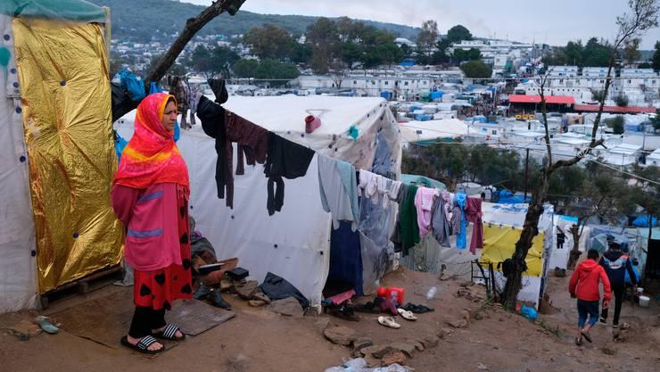 Das Flüchtlingslager bei Moria.