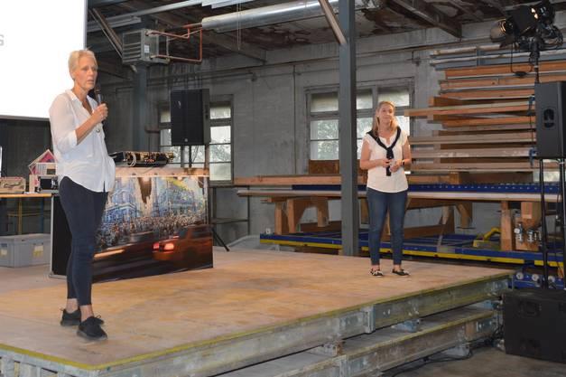 Impression von der Lancierung der Street-Art-Kampagne und Buchpräsentation in Laufenburg: Regula Laux.