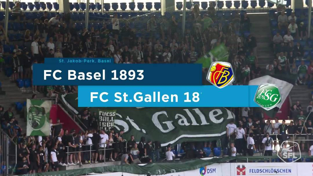 Super League, Saison 2018/19, Runde 2, FC Basel - FC St. Gallen, Matchhighlights