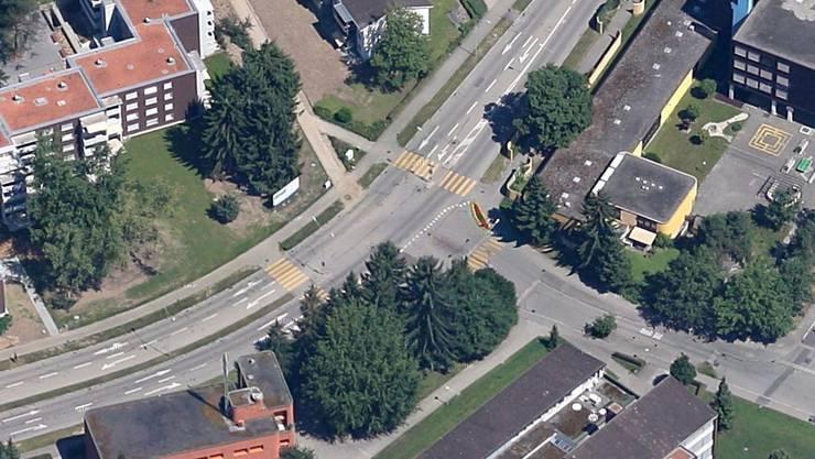 An dieser Kreuzung in Urdorf passierte das Unglück.