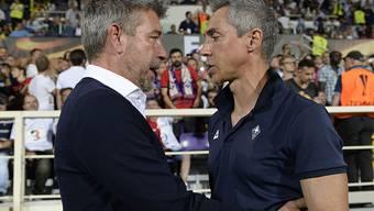 Urs Fischer (links) und Paulo Sousa gebührten sich gegenseitig Respekt.