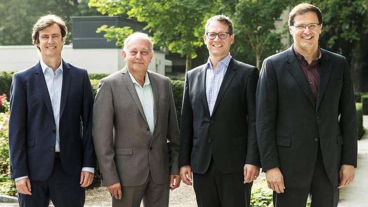 Das sind die vier Swiss-Skies-Gründer: Harald Vogels, Philippe Blaise, Armin Bovensiepen and Alvaro Oliveira.