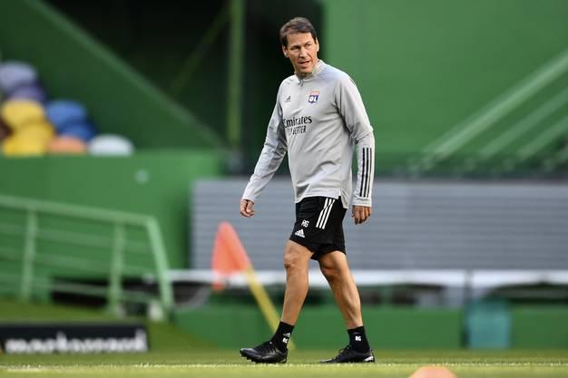 Rudi Garcia: Trainer Olympique Lyon.