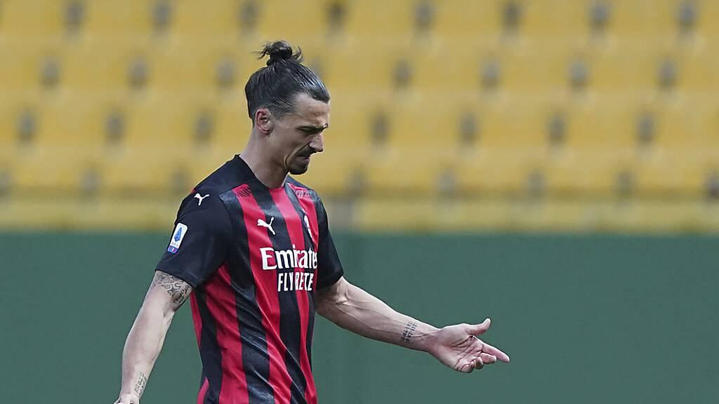 Milan gewinnt trotz Platzverweis von Ibrahimovic