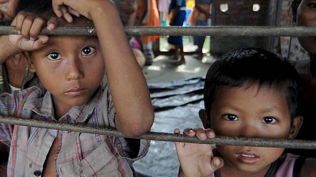Kinder in einem Auffanglager in Indien (Archiv)
