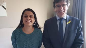 Antikapitalistin Anna Gabriel und der Katalanenpräsident Puigdemont.