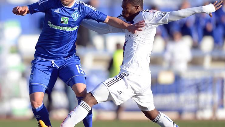 Der Schweizer Nationalspieler Admir Mehmedi (l.) in Diensten von Dynamo Kiew traf auf Serey Die und den FC Basel. Andy Mueller/Freshfocus