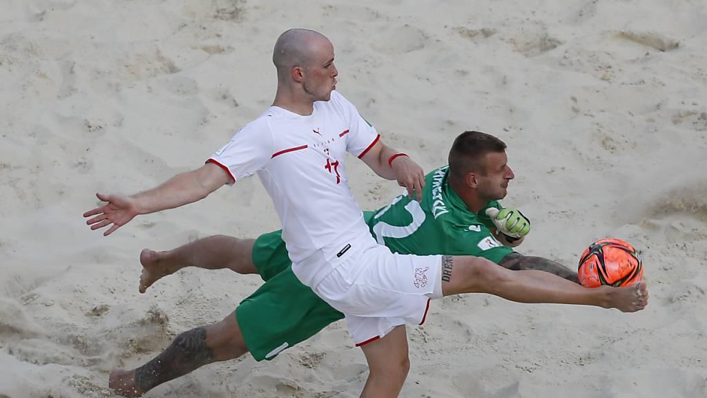 Schweizer Beachsoccer-Nati an WM in den Viertelfinals