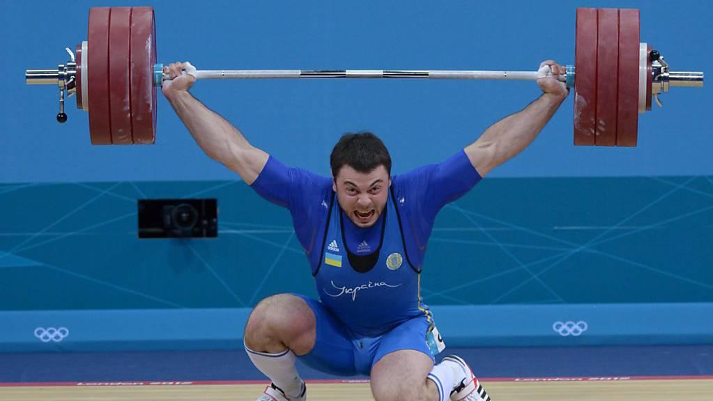 Gewichtheber Alexej Torochti bei den Olympischen Spielen in London im August 2012
