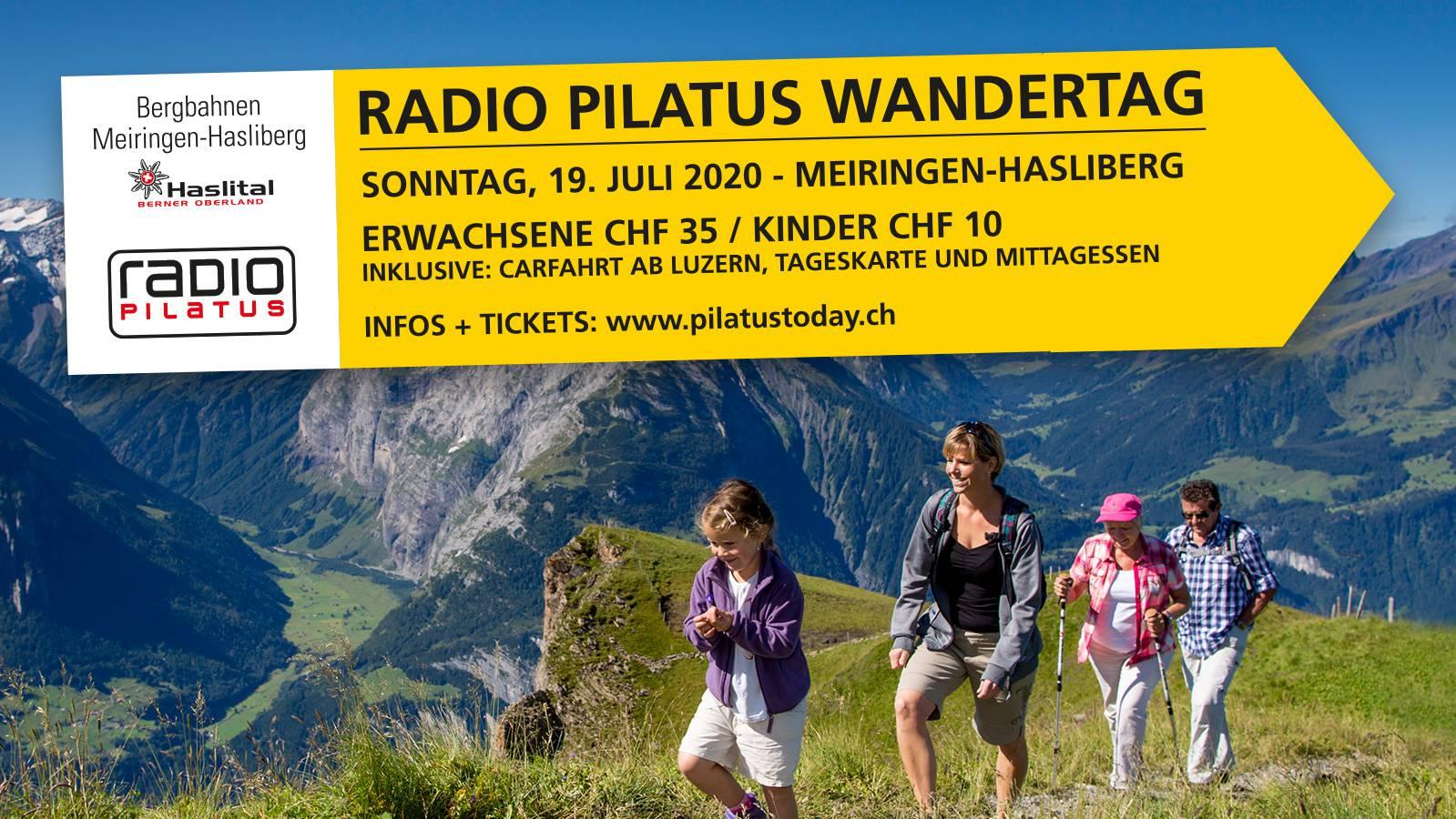 Radio Pilatus Wandertag auf dem Hasliberg.