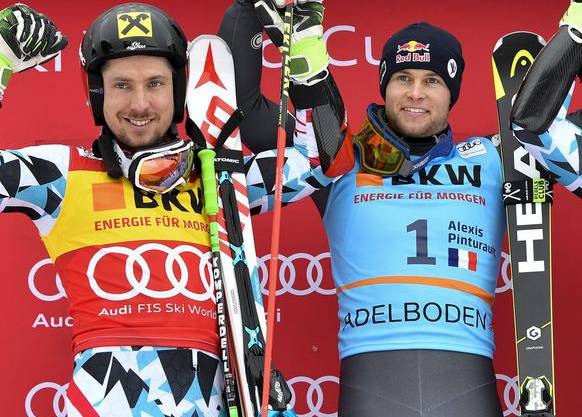 Pinturault (rechts) siegte im Vorjahr vor Hirscher, der heuer Topfavorit ist.