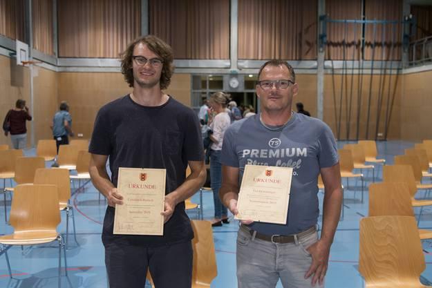 Constantin Ruetsch (links) und Urs Derendinger.