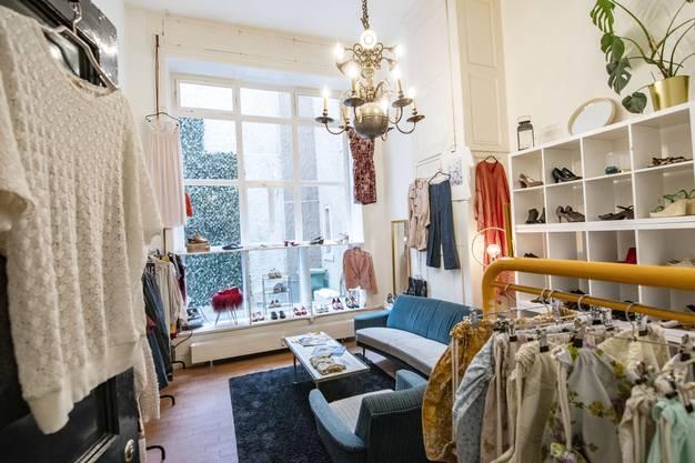 Da shoppt auch das Auge gerne mit: Seit vergangenem Oktober findet sich der Secondhandladen Bonnie und Kleid an der Spalenvorstadt.