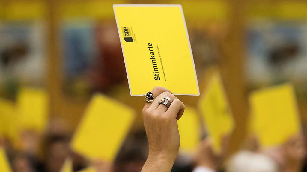 Die BDP fasste am Samstag an ihrer Delegiertenversammlung die Nein-Parole zur «No-Billag»-Initiative. (Archivbild)