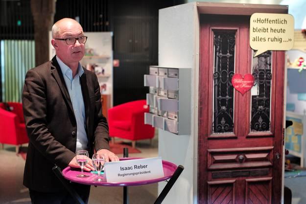 Dem Baselbieter Regierungspräsidenten und Sicherheitsdirektor Isaac Reber ist diese Ausstellung ein besonderes Anliegen.