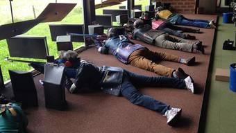 Am Kantonalschützenfest im Bezirk Arlesheim nahmen Tausende Schützen die Zielscheibe ins Visier. zvg