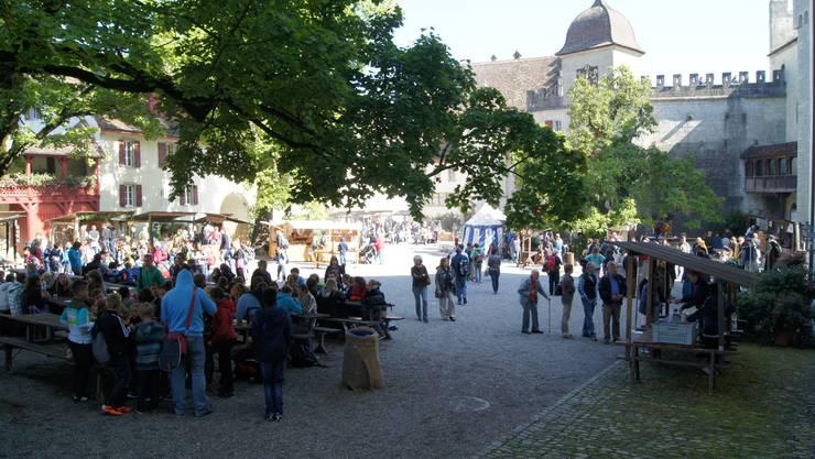 Der Mittelaltermarkt auf Schloss Lenzburg