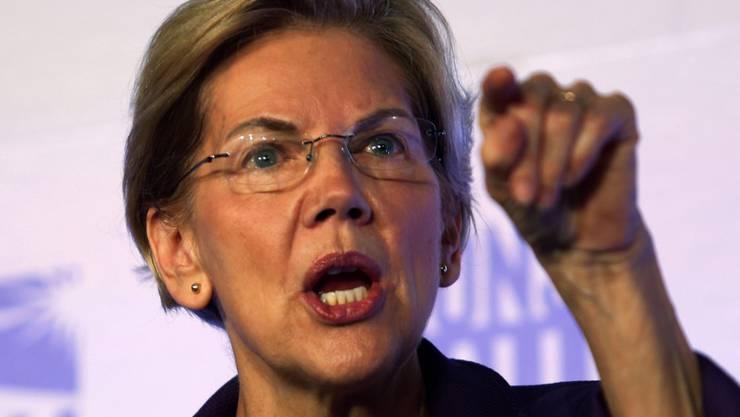 Könnte Trump bei den kommenden Präsidentschaftswahlen das Leben schwer machen: die 70-jährige demokratische Senatorin Elizabeth Warren aus Massachusetts. In der Popularität hat sie ihren Parteikollegen Joe Biden gerade überholt.