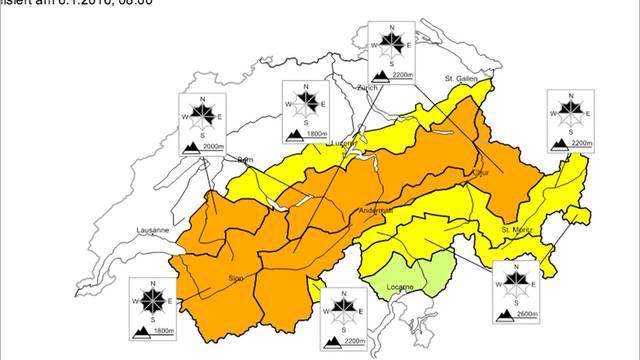 Lawinengefahr im Berner Oberland