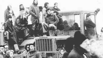 So fing es an: Am 1. April 1975 wurden die Baumaschinen auf dem Baugelände des AKW Kaiseraugst besetzt und die Arbeiter nach Hause geschickt.