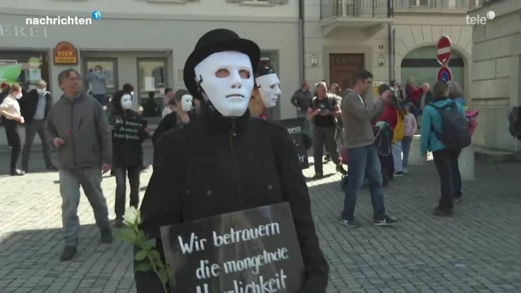 Aufruf zu Protestmarsch trotz Verbot in Altdorf