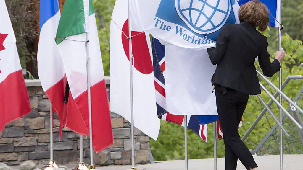 Am G7-Gipfel im kanadischen Whistler versammeln sich die Finanz- und Notenbankchefs der wichtigsten westlichen Industrienationen.