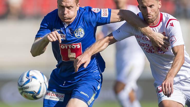 Luzerns Christian Schwegler (links) fällt mit einer Knieverletzung für mehrere Wochen aus