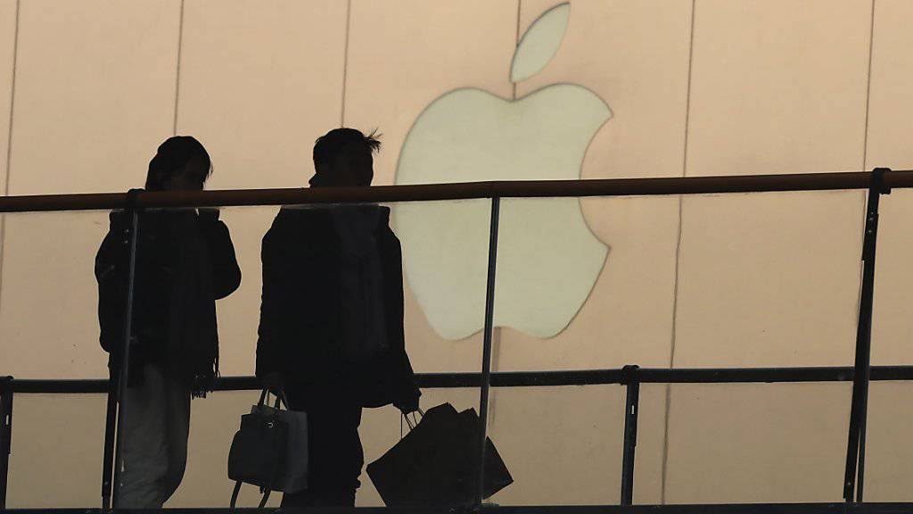 Aufatmen an der Börse: In China geht es mit den Geschäften von Apple wieder bergauf. (Archivbild)