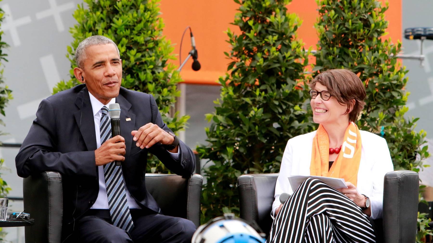 Christina Aus der Au hat am deutschen Kirchentag Barack Obama getroffen.