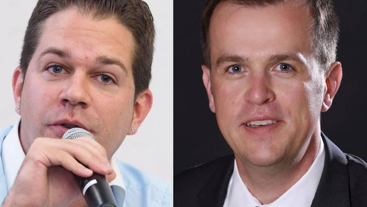 Christian Werner (links) und Matthias Borner, die zwei möglichen SVP-Anwärter für das Stadtratsamt.
