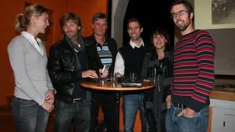 Gesprächsgäste für einen sauberen Sport: Bettina Schmid, Alain Sutter, Jürg Jenny, Marc Ringgenberger, Andrea Hollinger, Beni Zahner.
