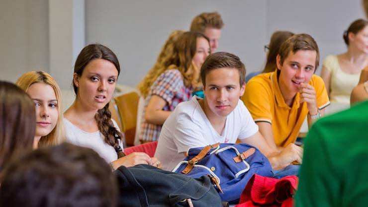 Auslandschweizer und Kantischüler diskutieren intensiv über Chancen und Risiken der neuen Medien. Emanuel Freudiger