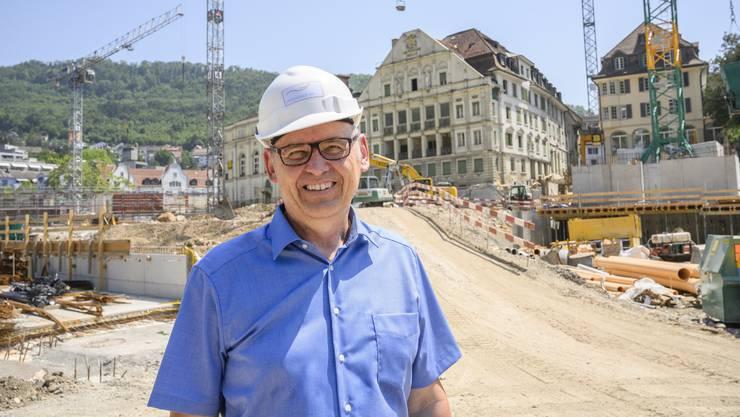 Gesamtprojektleiter Antony Strub: «Das Bild der Baustelle verändert sich fast täglich.»