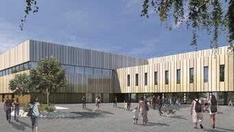Visualisierungen zum geplanten Umbau des Tägi in Wettingen
