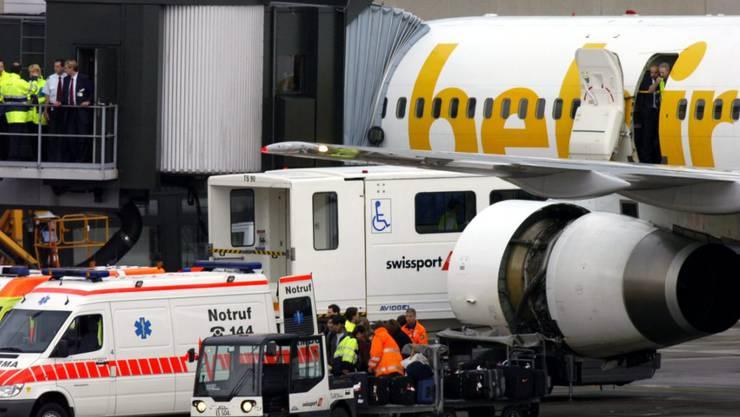 Die Schweizer Belair Airlines könnte bald wieder abheben. Die deutsche Beteiligungsgesellschaft SBC übernimmt Belair per sofort. (Archiv)