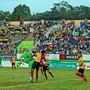 Chennai City (in grün) spielt derzeit im Exil in Coimbatore, freut sich dort aber über immer mehr Zuschauer. Die Zusammenarbeit mit dem FCB wird von den Indern als «Meilenstein der Klubgeschichte» tituliert.