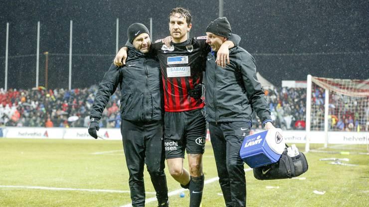Sandro Burki wird nach seiner Verletzungspause zum FCA zurückkehren.