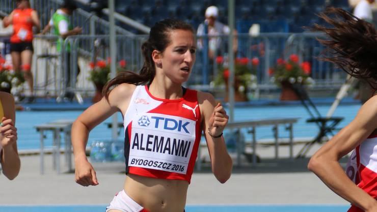 Lara Alemanni, hier an einem Wettkampf in Bydogoszcz, war an den U20-Europameisterschaften in Grosseto zufrieden mit ihrem Lauf.
