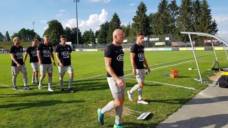 Marco Schneuwly vor seinem ersten Einsatz für den FC Aarau
