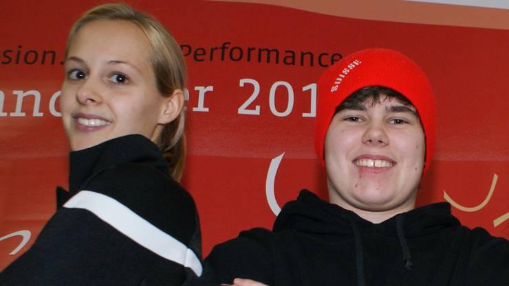 Kathrin Nabholz (Basel, links) und Sandra Thalmann (Pratteln, rechts) holten in Sotschi Bronze.