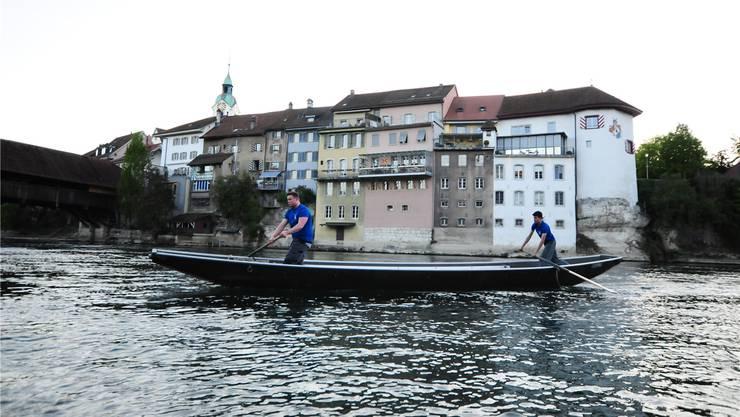 Die Jungpontoniere werden am 27. August in drei Alterskategorien den Schweizer Meister untereinander ausmachen. Dabei müssten sie einen Parcours auf der Aare möglichst schnell und möglichst fehlerfrei absolvieren.