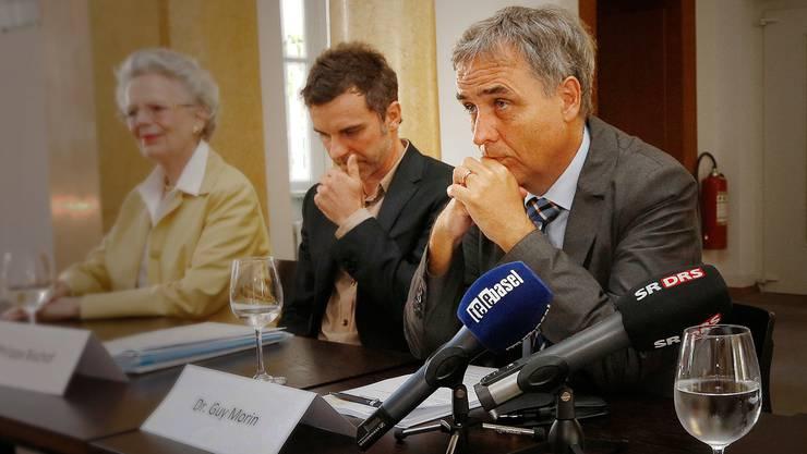 Kulturchef Philippe Bischof (l.) und Regierungspräsident Guy Morin lassen auf sich warten.