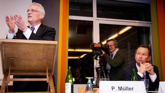 FDP Parteitag im Schützen in Aarau mit Müller und Minder.