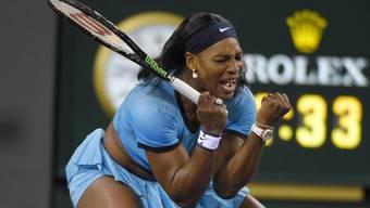 Serena Williams freut sich über den dritten Finaleinzug in Indian Wells