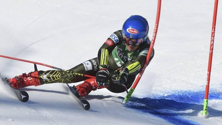 Mikaela Shiffrin war in Lienz im ersten Lauf mit Abstand am Schnellsten unterwegs
