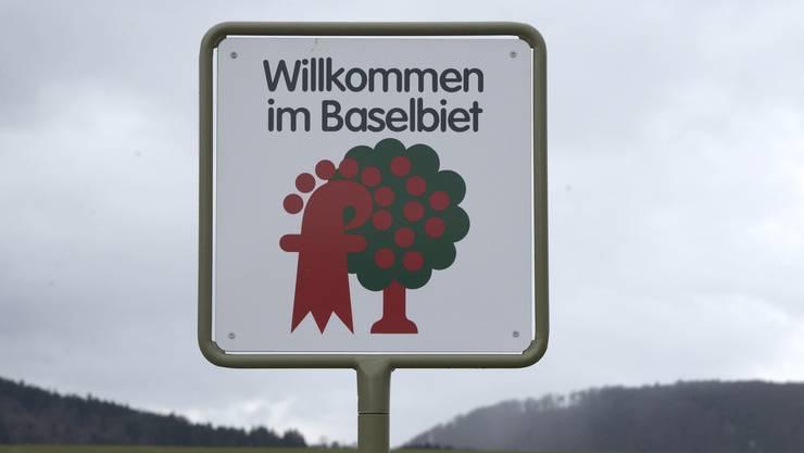Seit 1983 hat der Kanton Baselland Automobilisten mit diesem Schild begrüsst. Doch dann mussten sie weg. Dem Bundesamt für Strassen (Astra) waren die Tafeln nicht mehr genehm.