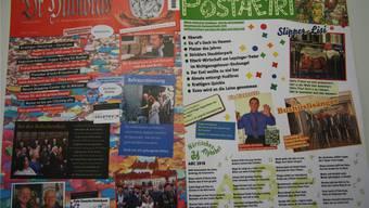 Headlines wie zum Beispiel «Stricklers Staubtierpark» im «Postheiri» oder «Wie gewonne, so Couronne» im «Hudibras» prägen die Titelseiten der beiden närrischen Bezahlblätter.