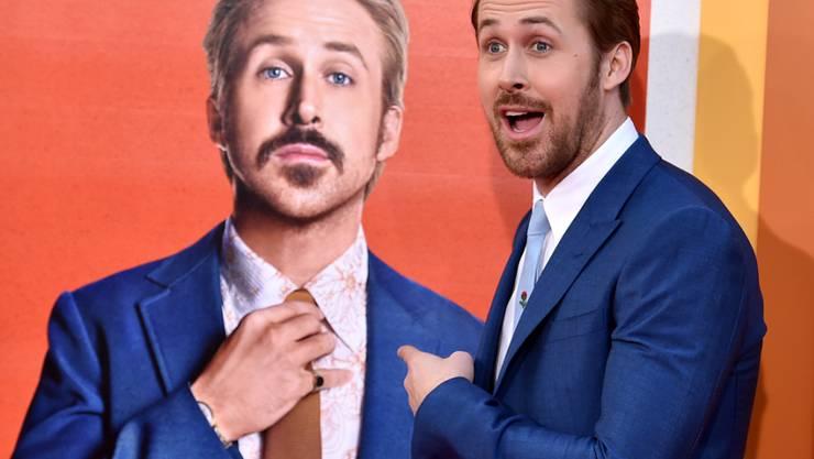 """Ryan Gosling hat dieser Tage viel zu tun. Kurz nach der Geburt seiner zweiten Tochter feiert er in Los Angeles die Premiere seines aktuellen Films """"The Nice Guys""""."""