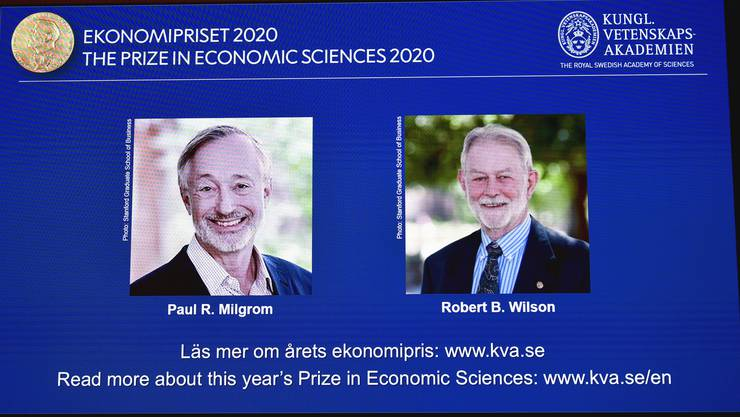 Wirtschaftsnobelpreis-Träger 2020: Paul Milgrom, links, and Robert Wilson